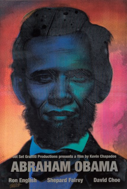 Ron English, 'Abraham Obama (Silver Lettering)', 2009, Heritage Auctions