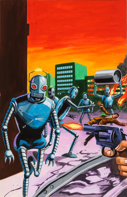 , 'Untitled (Robots attacking city),' c. 1960-75, Ricco/Maresca Gallery