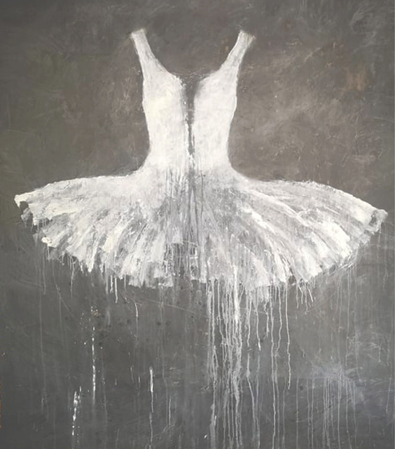 , 'White on Grey Dress,' 2019, Galleria Ca' d'Oro