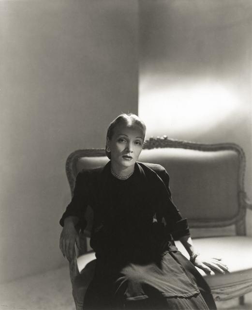 Horst P. Horst, 'Marlene Dietrich', 1947, Photography, Gelatin silver print, Robert Klein Gallery