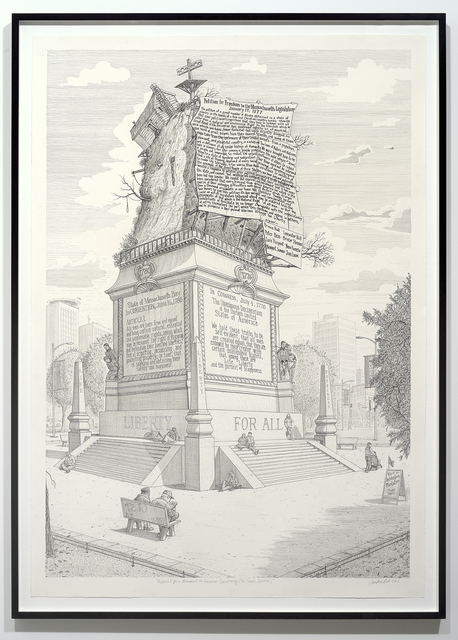 , 'Proposal for a Monument to American Sanctimony (The Slaves' Petition),' 2016, Catharine Clark Gallery