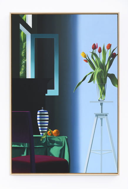 , 'Flowers on Tripod,' 2019, Leslie Sacks Gallery