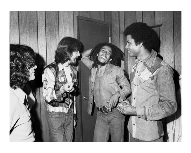 Kim Gottlieb-Walker, 'George Harrison Meets Bob Marley Backstage at the Roxy', 1975, KM Fine Arts