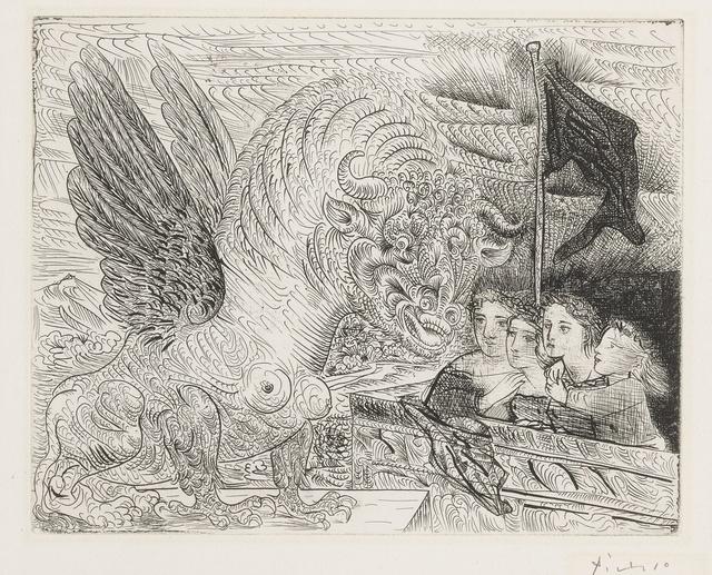 Pablo Picasso, 'Taureau ailé contemplé par quatre enfants (B. 229; Ba. 444)', 1934, Sotheby's