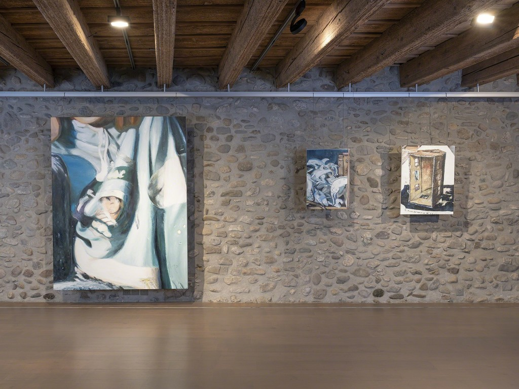 Installation view at Artvera's, works by Mireille Blanc.