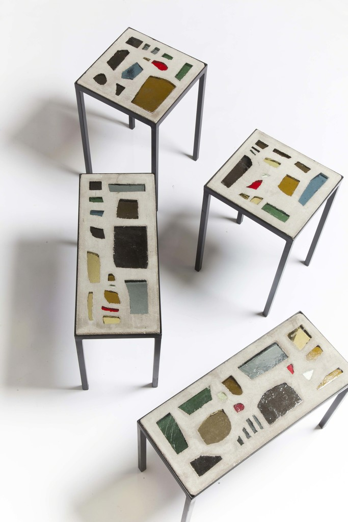 Set of 4 ceramic coffee tables
