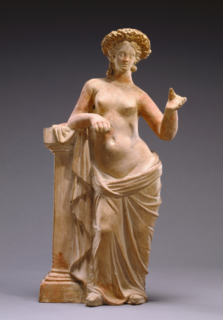 'Statuette of Aphrodite Leaning on a Pillar', 250 -200 BCE, J. Paul Getty Museum