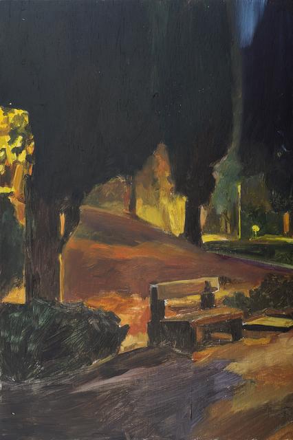 , 'A bench near the memorial at night 1,' 2014, Dvir Gallery