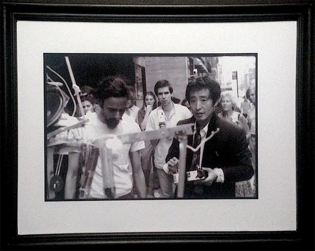 Paul Garrin, 'Nam June Paik, Elliot Kaplan & Shridhar Baptat with Robot K456, Madison Ave', 1980, IFAC Arts