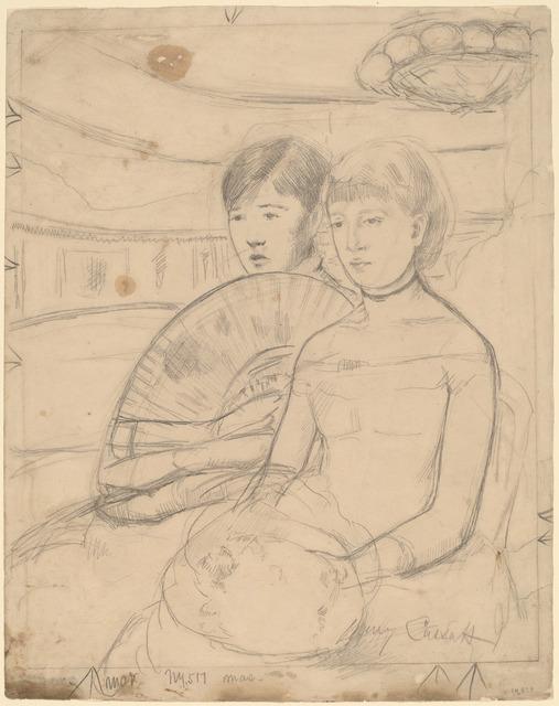 Mary Cassatt, 'The Loge [recto]', 1882, National Gallery of Art, Washington, D.C.