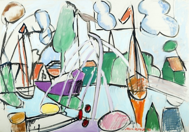 , 'Boatyard Edam,' 1990, Childs Gallery