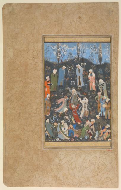 "Attributed to Bihzad, '""Dancing Dervishes"", Folio from a Divan of Hafiz', ca. 1480, The Metropolitan Museum of Art"
