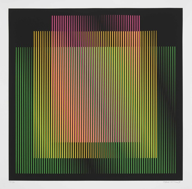 Carlos Cruz-Diez, 'Germania 2', 2018, Print, Screenprint on 300gsm BFK paper, Cristea Roberts Gallery