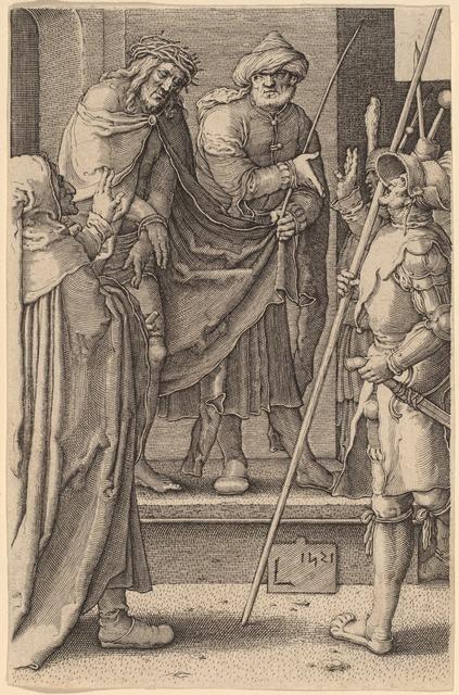 Lucas van Leyden, 'Ecce Homo', 1521, Print, Engraving, National Gallery of Art, Washington, D.C.