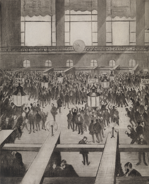 , 'New York Stock Exchange,' 1921, Osborne Samuel