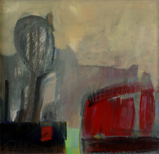 , 'Red Barn,' , Abend Gallery