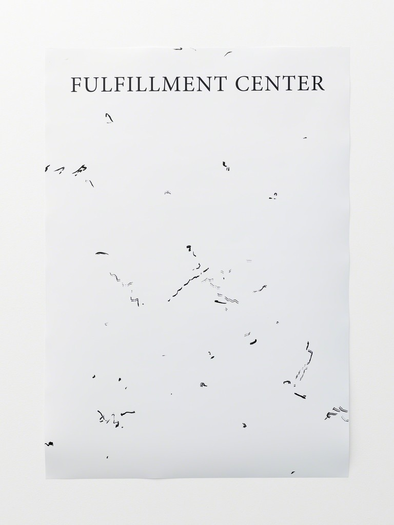 Pedro Barateiro, Fulfillment Centre, photographic print, ink, unique, 2015. Photo by Original&theCopy.