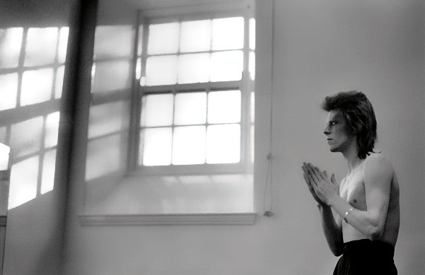 Mick Rock, 'David Bowie. Praying by windows, Aberdeen', 1973, The Bonnier Gallery