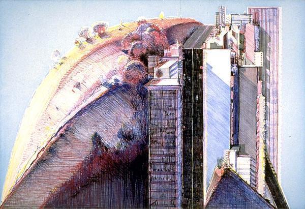 Wayne Thiebaud, 'Country City', 1988, Print, Etching and aquatint, Vertu Fine Art