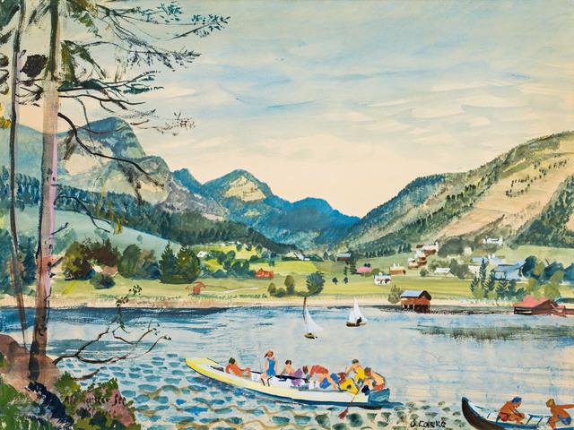 , 'Altausseer Lake (logging dam),' 1932, Galerie Kovacek & Zetter