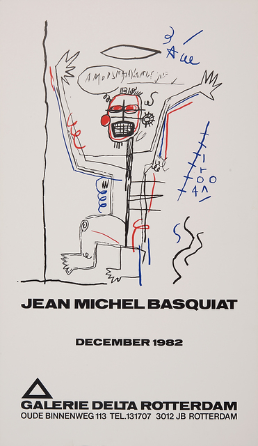 Jean-Michel Basquiat, 'Untitled (Galerie Delta)', 1982, Print, Screenprint in colors on paper, Rago/Wright