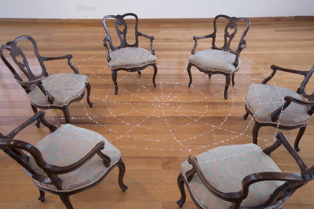 Conversation Piece II (2011) by Monda Hatoum at Fundación Proa, 2015. Courtesy the artist. © Fotografía: Everton Ballardin