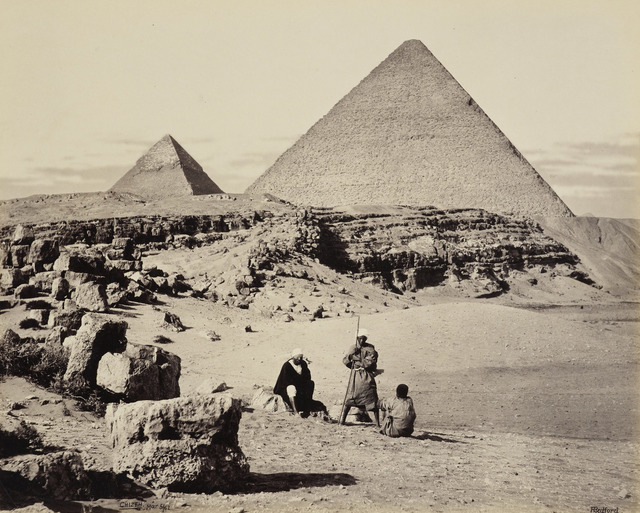 , 'Pyramids of Cheops and Cephrenes [The Great Pyramid and the Pyramid of Khafre, Giza],' 5 Mar 1862, Royal Collection Trust