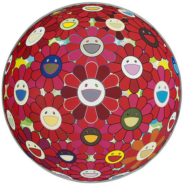 Takashi Murakami, 'Flower Ball (3D) Red Cliff ', 2010, Marcel Katz Art