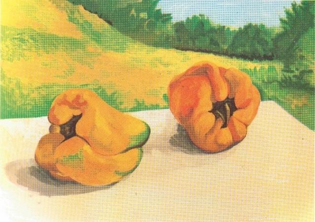 , 'Peperoni con paesaggio / Peppers with landscape,' 1986, Galleria Edarcom Europa