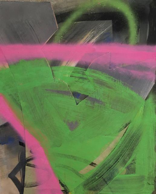 , 'Hot Pink and Hot Green Tussle,' 2016, David Richard Gallery