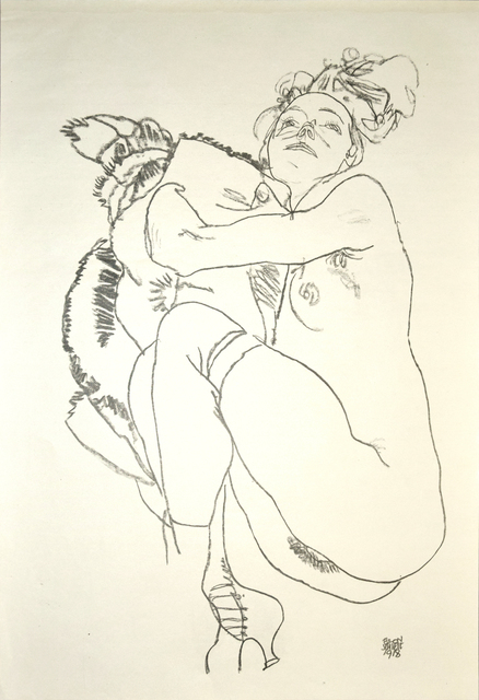 Egon Schiele, 'Crouching Nude of Woman', 1920, Wallector