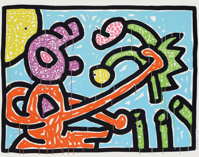 Keith Haring, 'Flowers (1)', 1990, Fine Art Mia