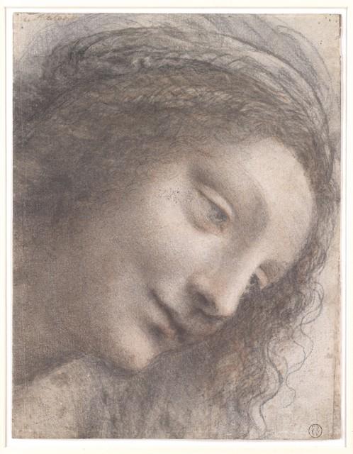 Leonardo da Vinci, 'The Head of the Virgin in Three-Quarter View Facing Right', 1510–1513, The Metropolitan Museum of Art