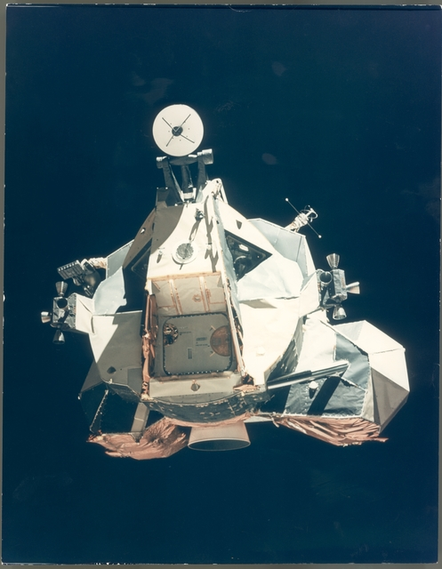 Ronald Evans, 'The ascent stage of the Lunar Module returning from the Moon, Apollo 17, December 1972', Photography, Vintage chromogenic print, Attollo Art