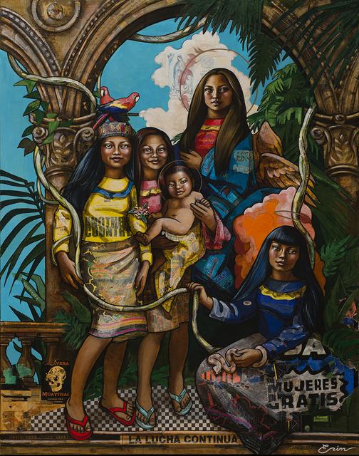 , 'Shipibo Santa Rosa de Lima (after Tiepolo) ,' 2018, Blue Rain Gallery