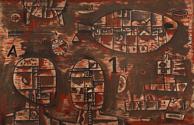 , 'Symbols on wood,' c.1959, Cecilia de Torres Ltd.