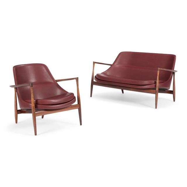 Ib Kofod-Larsen, 'Elizabeth chair and sofa', 1956, Design/Decorative Art, Brazilian rosewood, leather, Dansk Møbelkunst Gallery