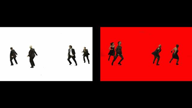 , 'Split of 4 Dancers,' 2010, Chelouche Gallery