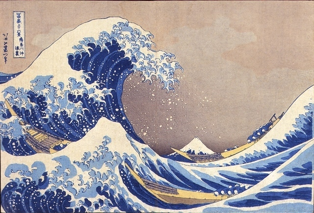 , ''KANAGAWA OKI NAMIURA' (THE HALLOW OF THE GREAT WAVE OFF KANAGAWA) FROM THE SERIES 'FUGAKU SANJUROKKEI' (THE THIRTY- SIX VIEWS OF MT.FUJI),' , Shoichiro/Projekcts by Projects