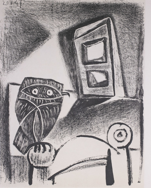 Pablo Picasso, 'Hibou a La Chaise (Owl in the Chair), 1949 Limited edition Lithograph by Pablo Picasso', 1949, White Cross