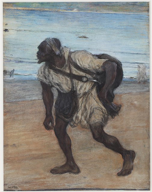 Jacobus van Looy, 'A Water Carrier in Tangier', ca. 1886, Mireille Mosler Ltd.