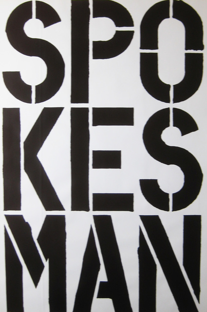 , 'Spokesman,' 1989, Alden Projects