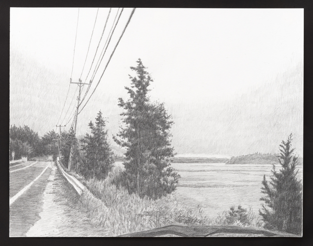 , 'Road Drawing (revisited),' 2016, Castor Gallery