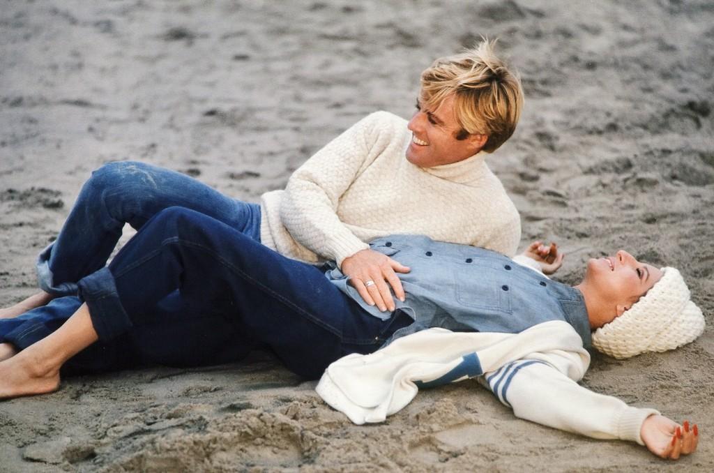 Robert Redford and Barbra Streisand on the Beach