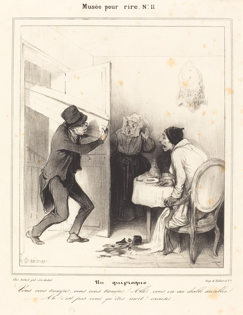 Honoré Daumier, 'Un quiproquo - Vous vous trompez... allez... au diable...', 1838, National Gallery of Art, Washington, D.C.