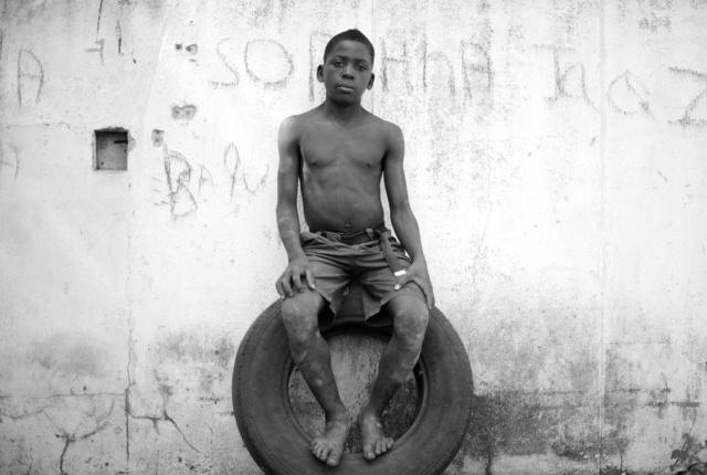 , 'Sitting on a Tyre, Growing in Darkness Series,' 2012-2015, Ed Cross Fine Art