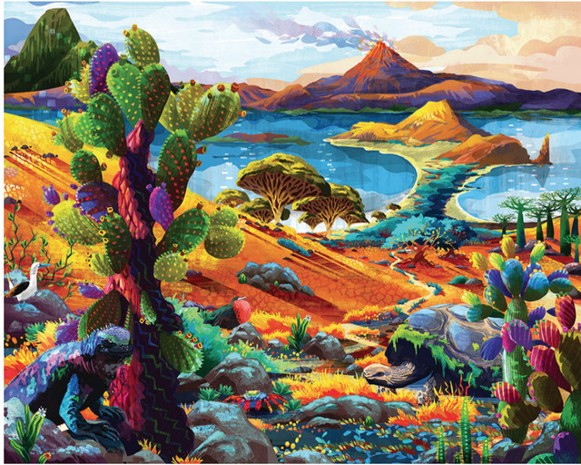 , 'Galapagos - Original oil painting,' 2018, Newport Brushstrokes Fine Art