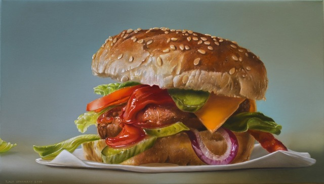 Tjalf Sparnaay, 'Hamburger with Red Onion', 2018, Louis K. Meisel Gallery