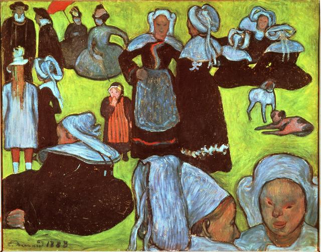Émile Bernard, 'Breton Women in a Green Pasture, or The Pardon', 1888, ARS/Art Resource