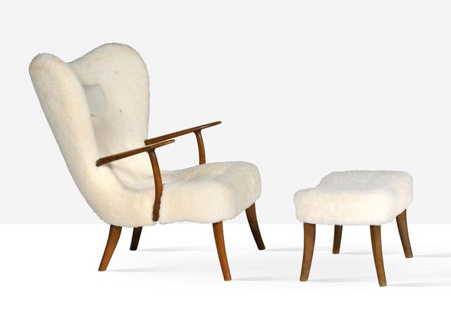 Ib Madsen, 'Pragh lounge chair and ottoman', circa 1950, Aguttes